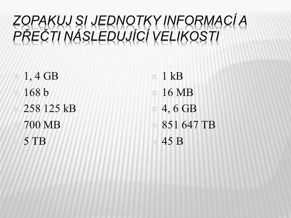 1 kB 1 MB 1 B 1 TB 1 GB 1 b