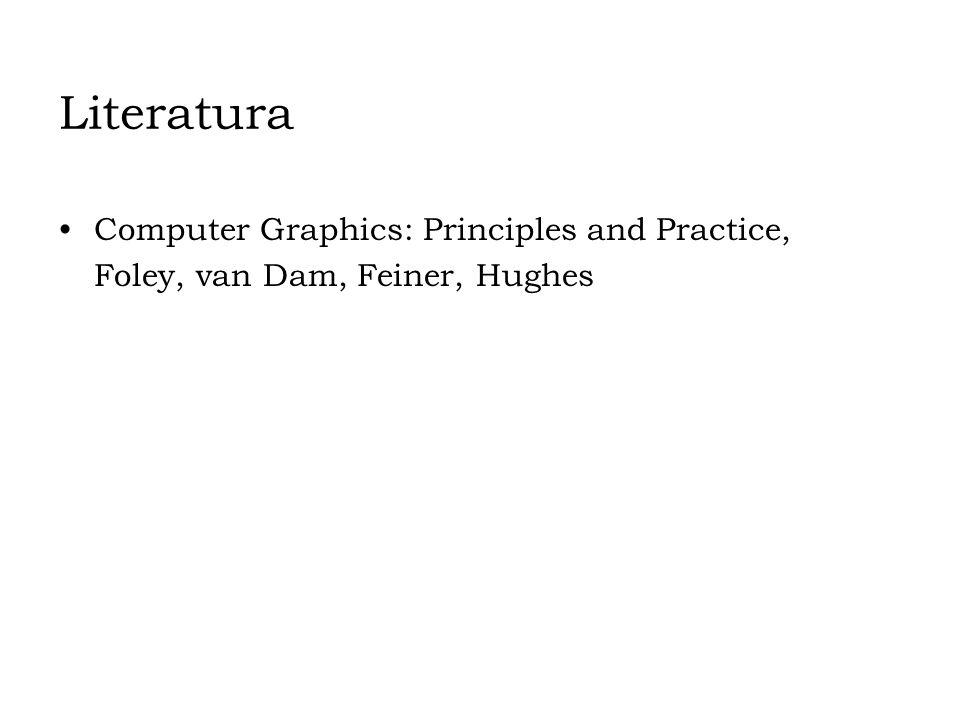 Literatura Computer Graphics: Principles and Practice, Foley, van Dam, Feiner, Hughes