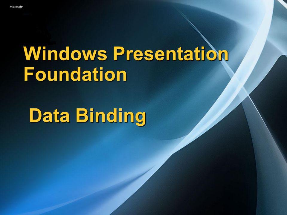 Windows Presentation Foundation Data Binding