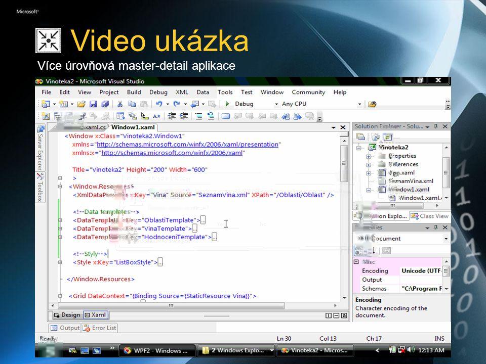 Video ukázka Více úrovňová master-detail aplikace