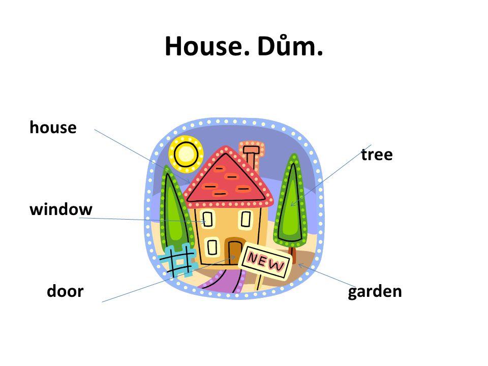 House. Dům. house window door tree garden