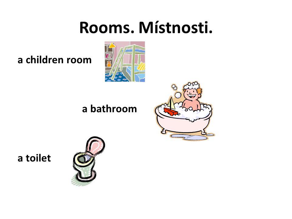 Fill right room.Doplň správný pokoj.