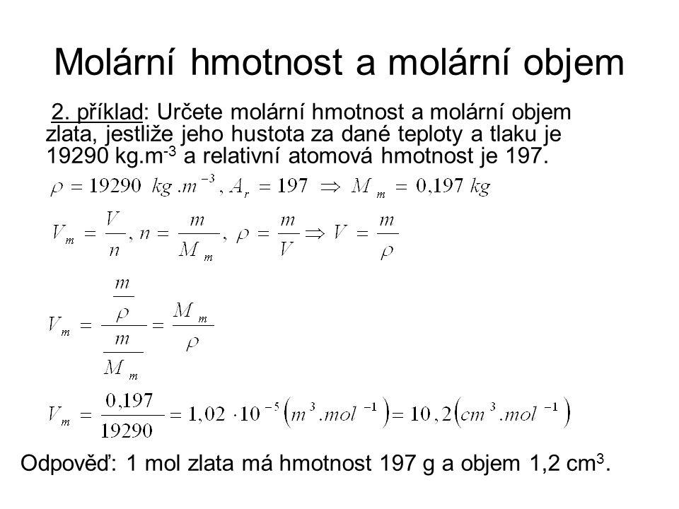 Molární hmotnost a molární objem 2.