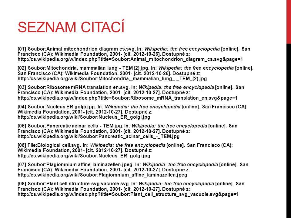 SEZNAM CITACÍ [01] Soubor:Animal mitochondrion diagram cs.svg.