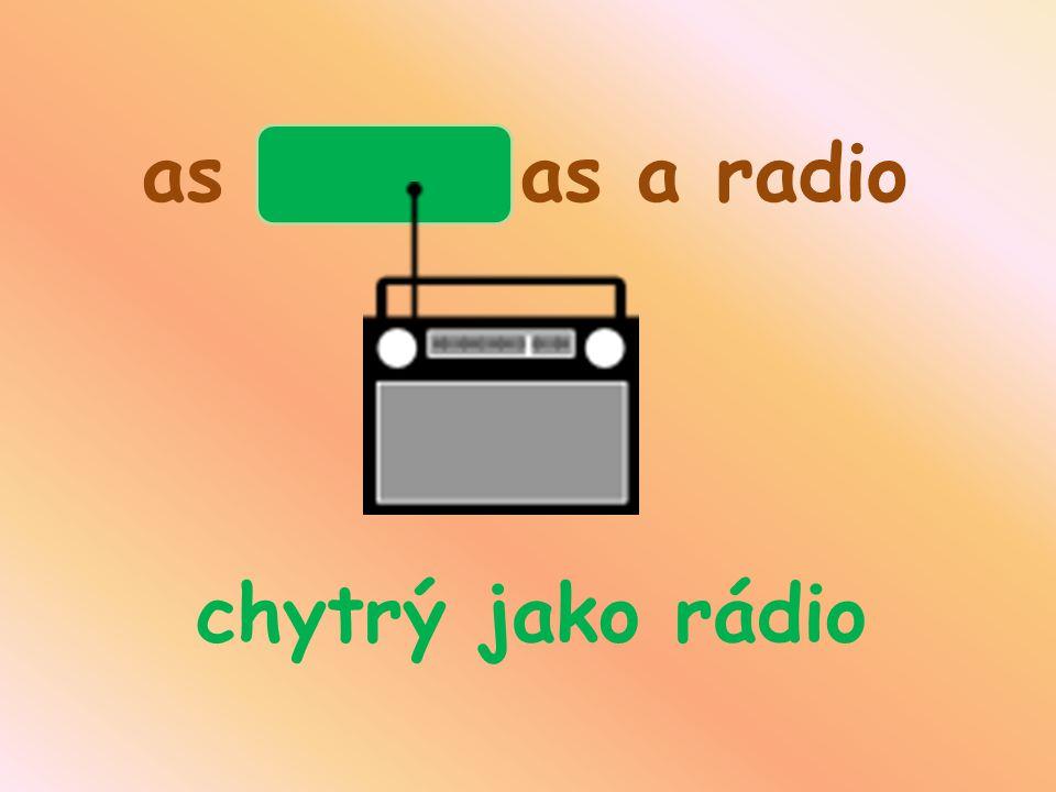 as clever as a radio chytrý jako rádio