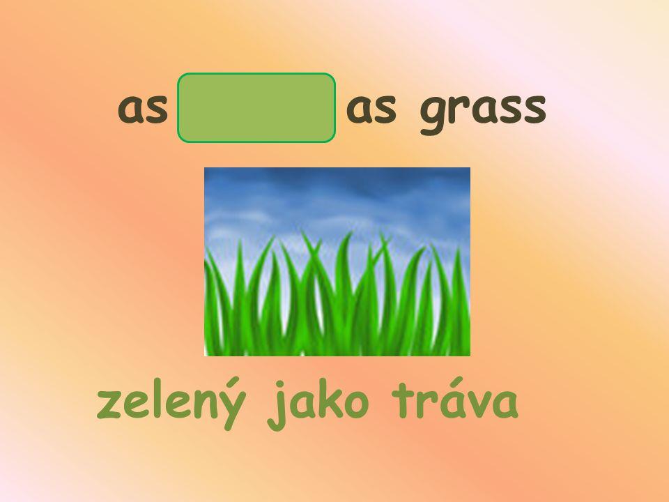 as green as grass zelený jako tráva