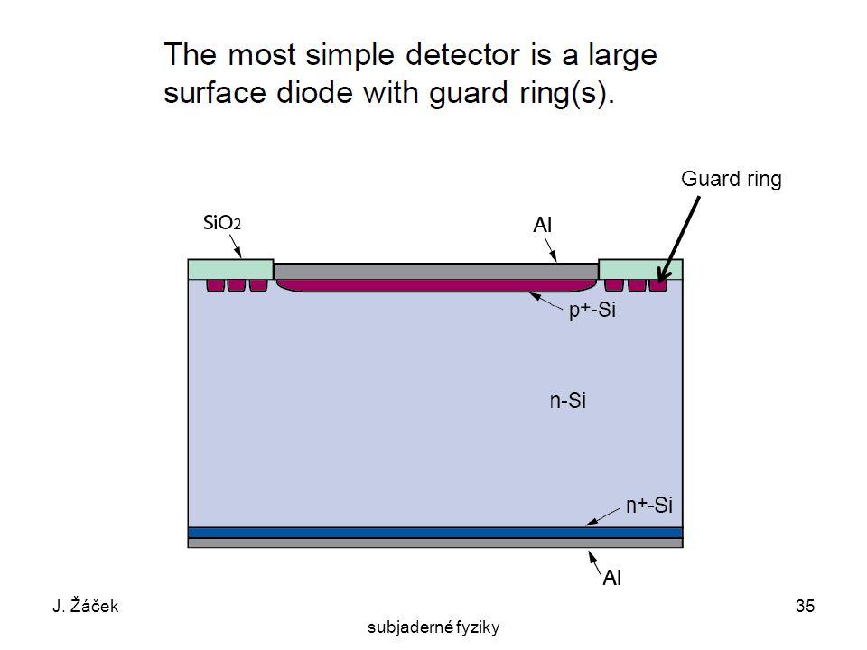 J. ŽáčekExperimentální metody jaderné a subjaderné fyziky 35 Guard ring