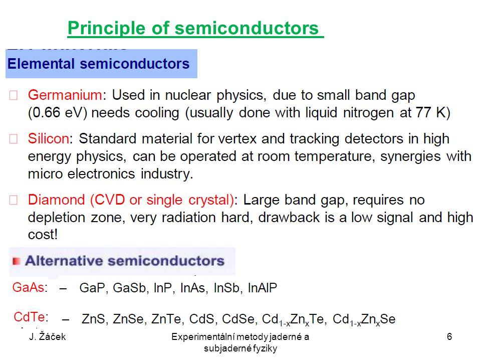 Principle of semiconductors J. ŽáčekExperimentální metody jaderné a subjaderné fyziky 6