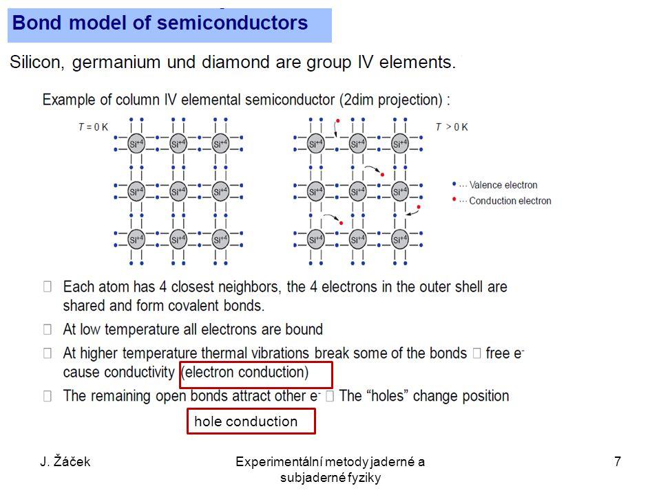 hole conduction J. ŽáčekExperimentální metody jaderné a subjaderné fyziky 7