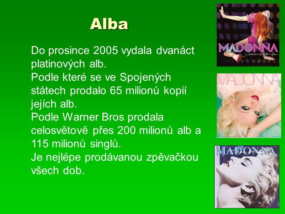 Alba Alba Do prosince 2005 vydala dvanáct platinových alb. Podle které se ve Spojených státech prodalo 65 milionů kopií jejích alb. Podle Warner Bros