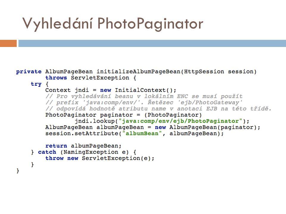 Vyhledání PhotoPaginator
