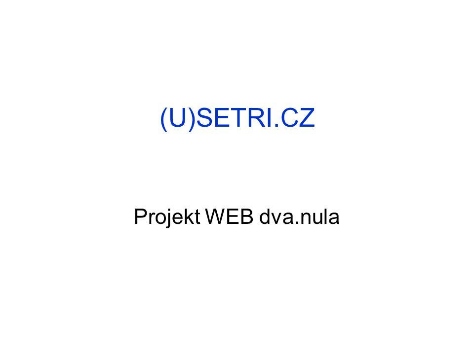 (U)SETRI.CZ Projekt WEB dva.nula