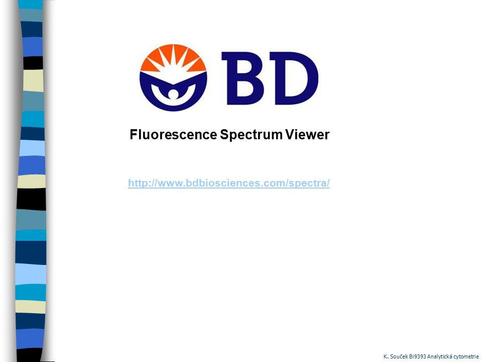 http://www.bdbiosciences.com/spectra/ Fluorescence Spectrum Viewer K. Souček Bi9393 Analytická cytometrie
