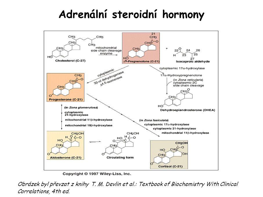 Adrenální steroidní hormony Obrázek byl převzat z knihy T.