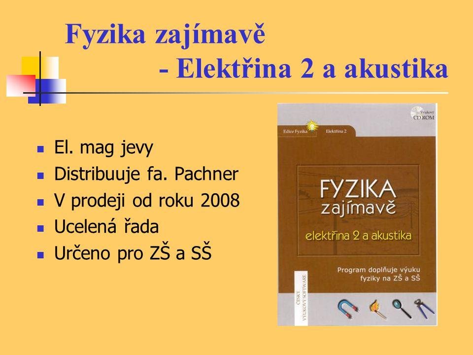 Fyzika zajímavě - Elektřina 2 a akustika El.mag jevy Distribuuje fa.