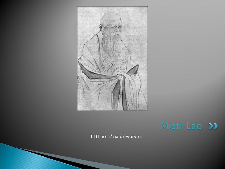 11) Lao-c' na dřevorytu. Mistr Lao