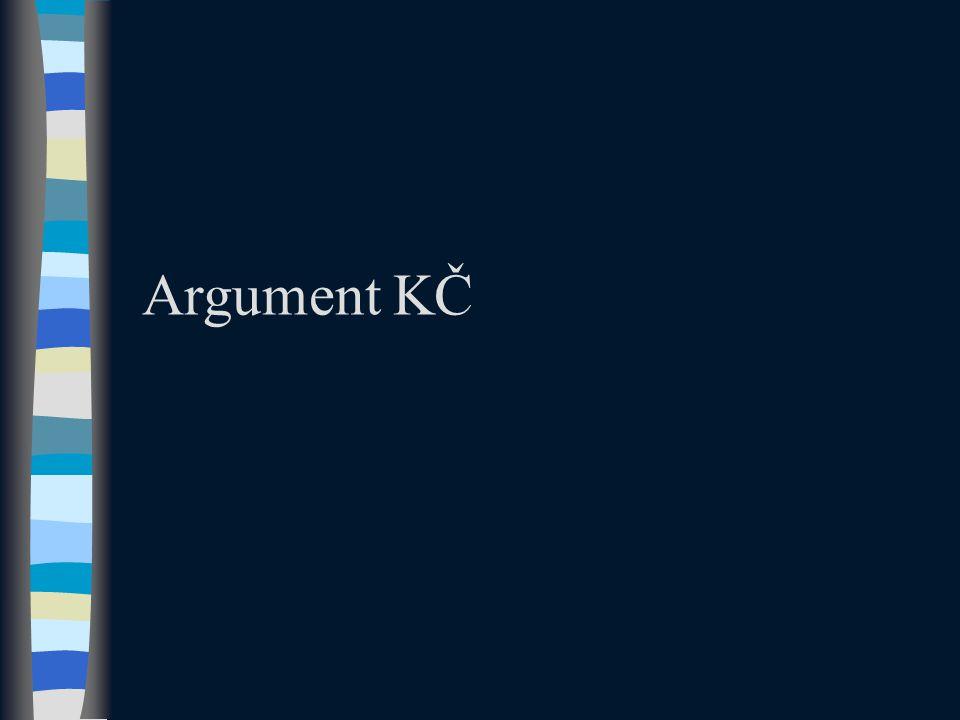 Argument KČ