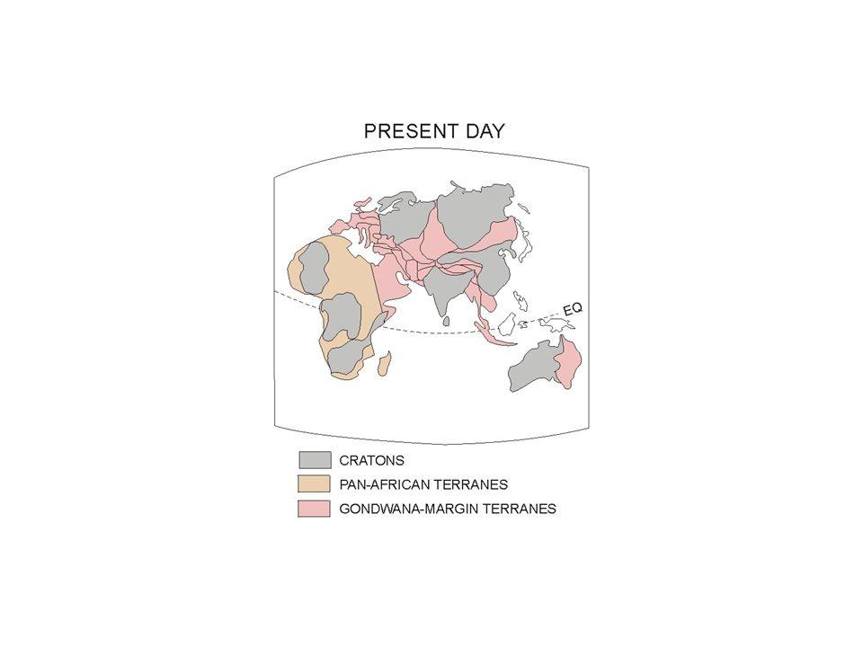 Hlavní stavební jednotky Asie kontinentální jádraorogenetické zóny Kontinentální jádra- štíty a platformy (kratony) stabilizované v prekambriu.