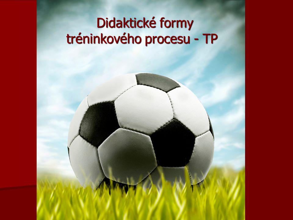 Didaktické formy tréninkového procesu - TP Didaktické formy tréninkového procesu - TP