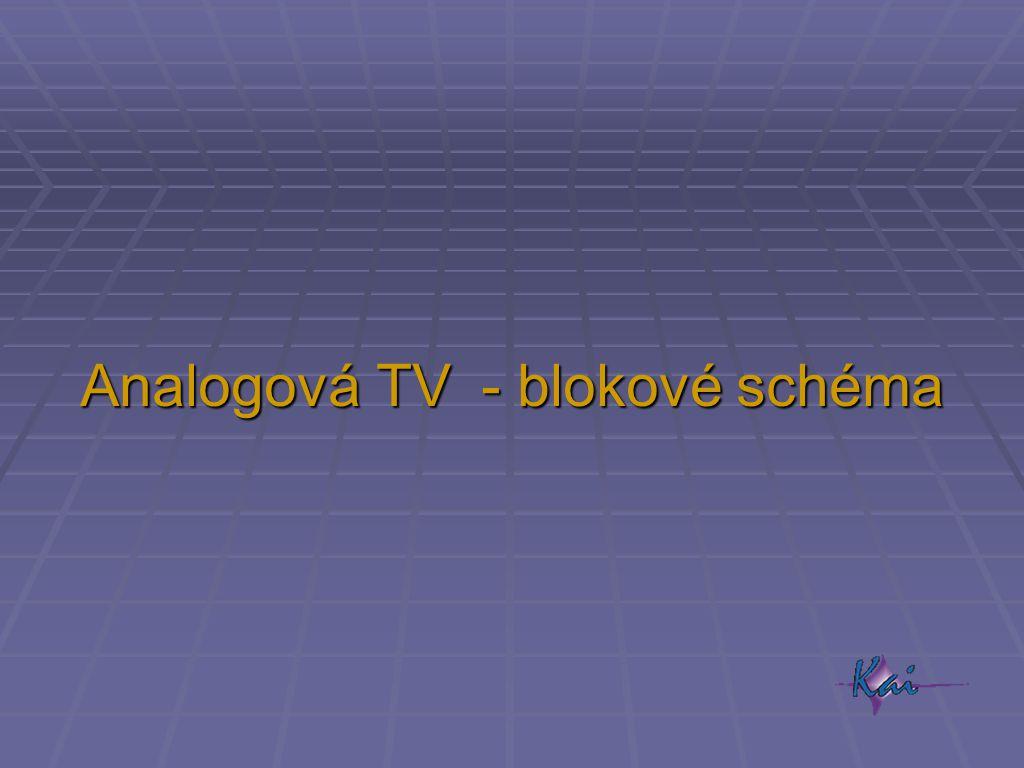Analogová TV - blokové schéma