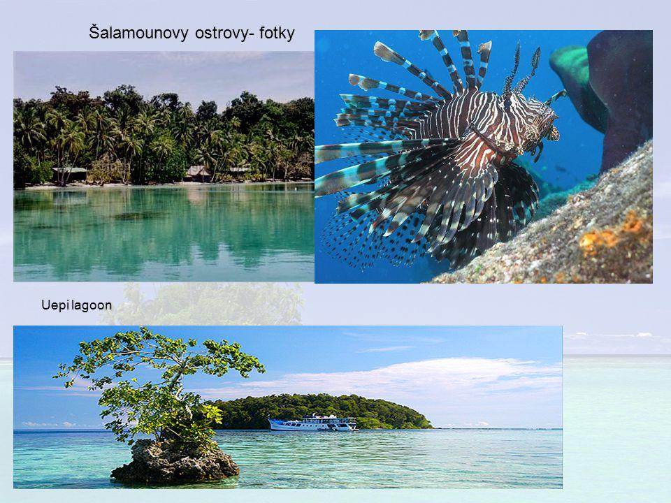 Šalamounovy ostrovy- fotky Uepi lagoon