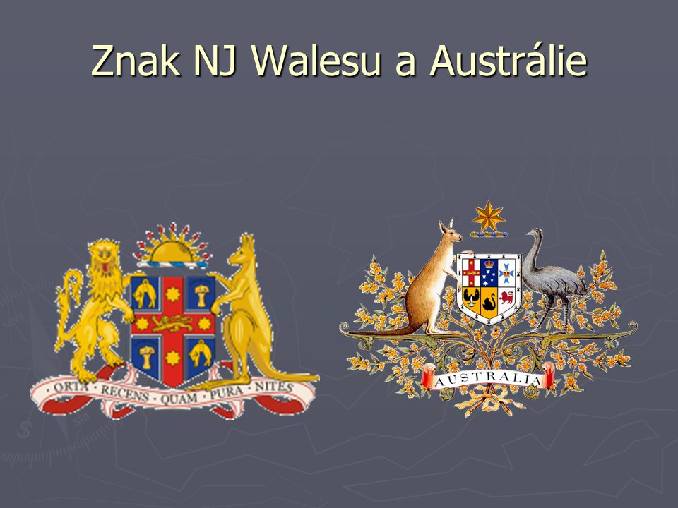 Znak NJ Walesu a Austrálie
