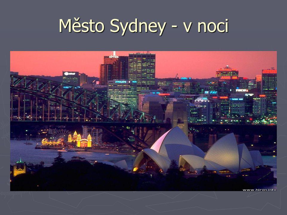 Město Sydney - v noci