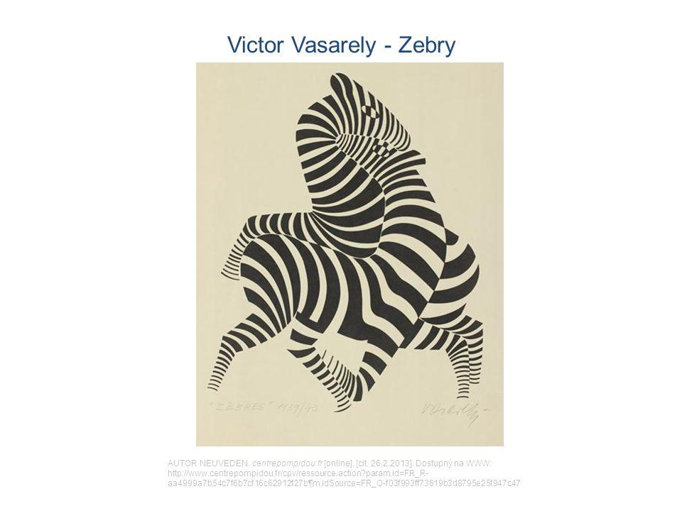 Victor Vasarely - Zebry AUTOR NEUVEDEN. centrepompidou.fr [online].