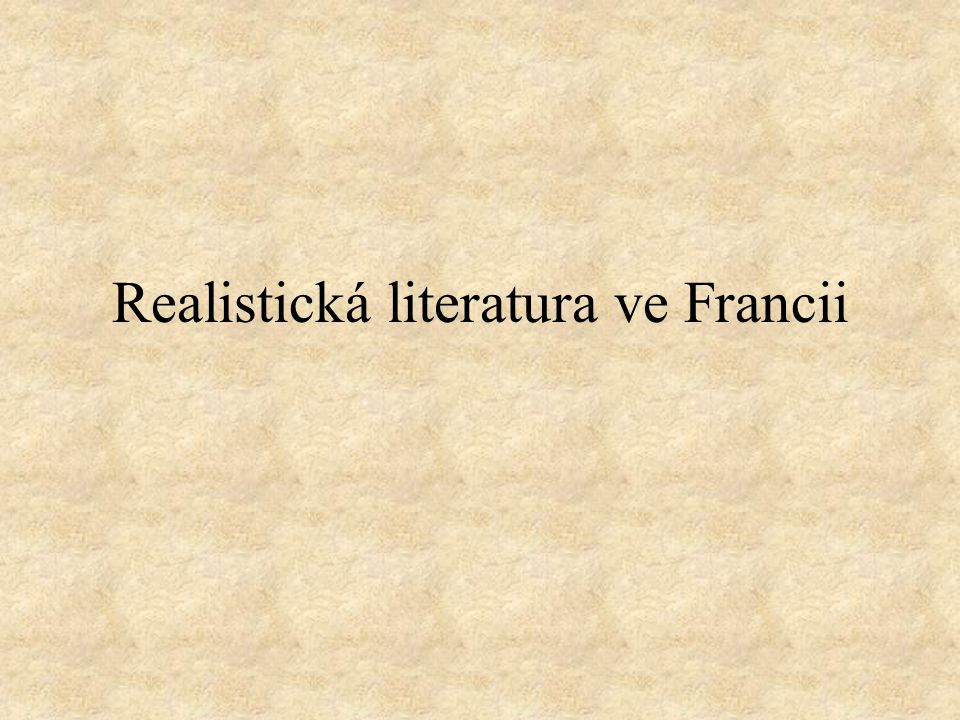 Realistická literatura ve Francii
