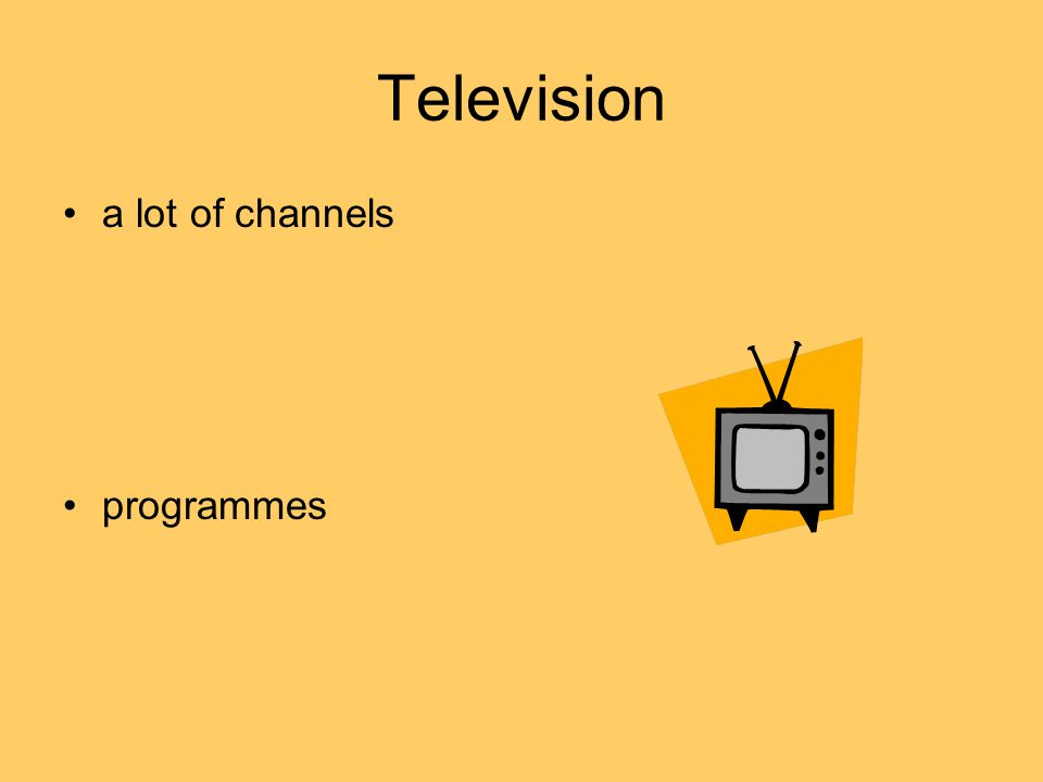 Television a lot of channels programmes