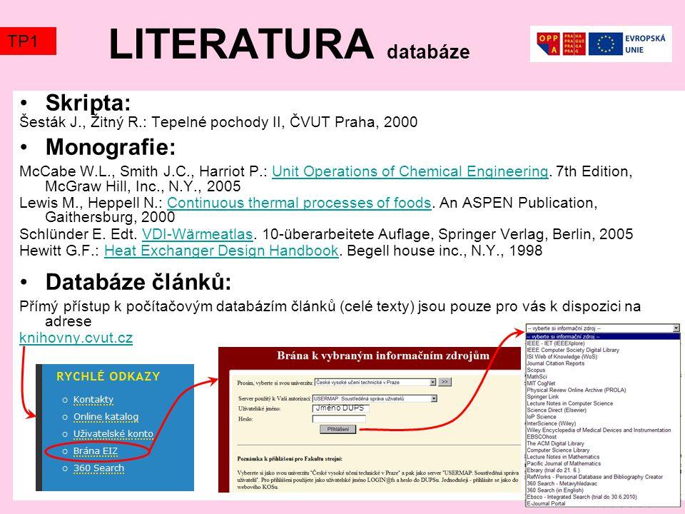 VÝBĚR DATABÁZE Tady se dozvíte, čemu přednášející a cvičící alespoň trochu opravdu rozumí (možná) Databáze článků, které můžete použít jako temata referátů.
