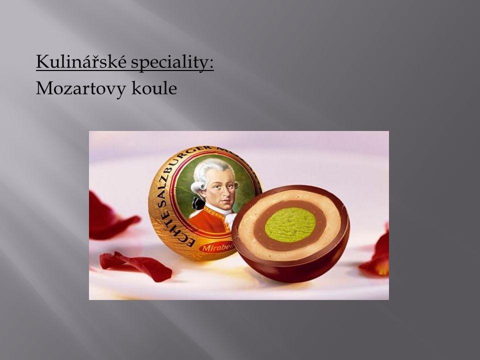 Kulinářské speciality: Mozartovy koule