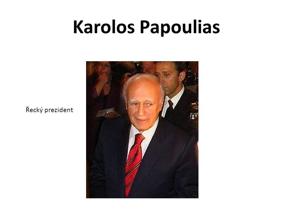 Karolos Papoulias Řecký prezident