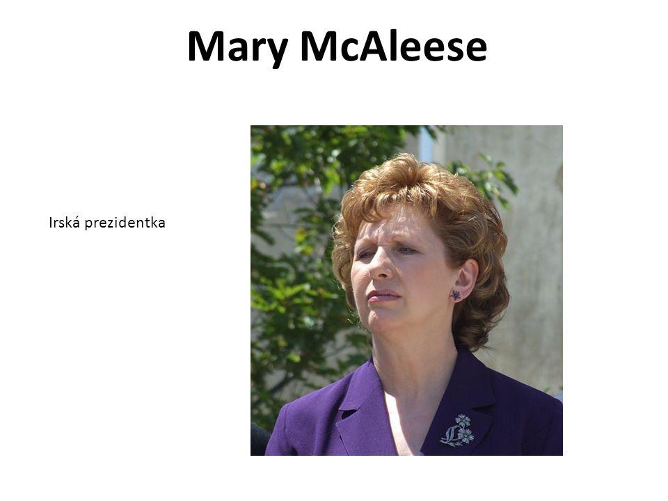 Mary McAleese Irská prezidentka