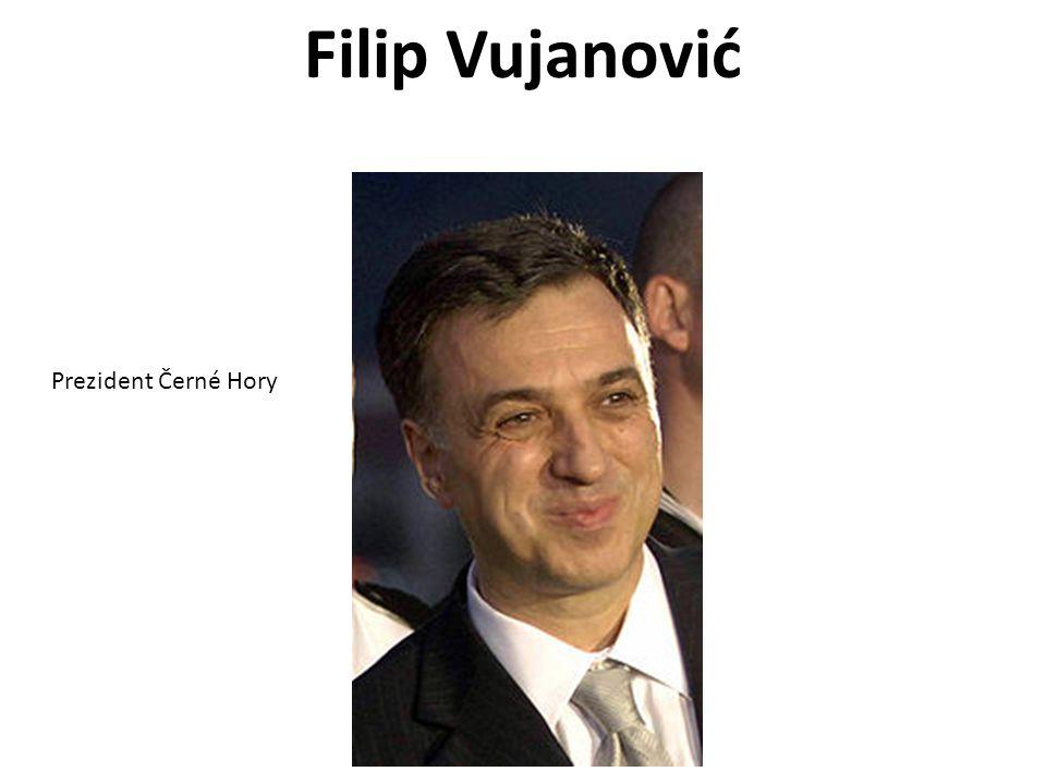Filip Vujanović Prezident Černé Hory