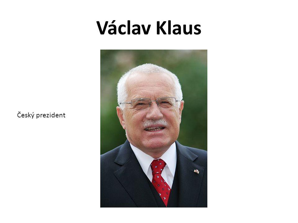 Václav Klaus Český prezident