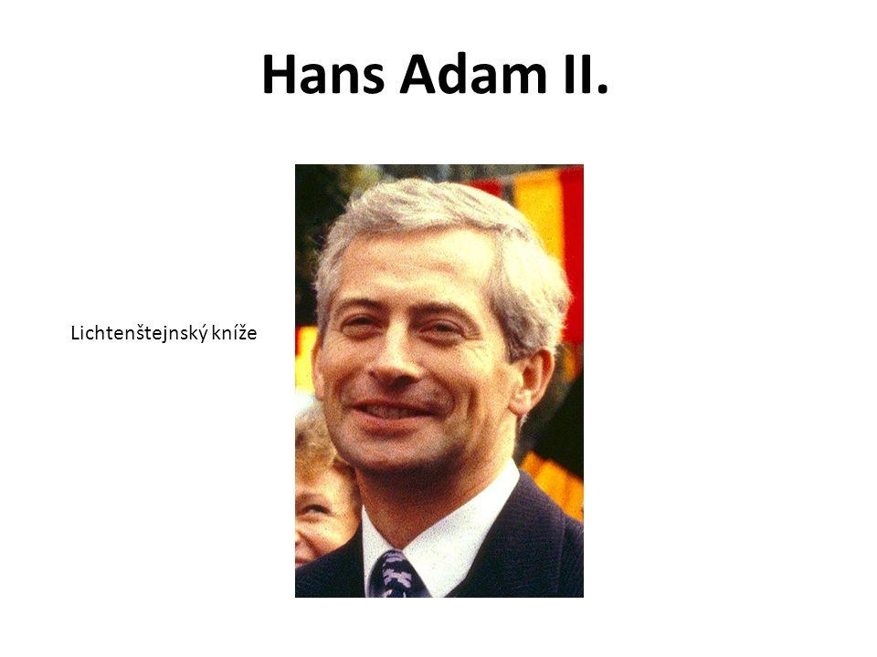 Hans Adam II. Lichtenštejnský kníže