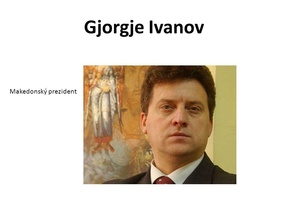 Gjorgje Ivanov Makedonský prezident