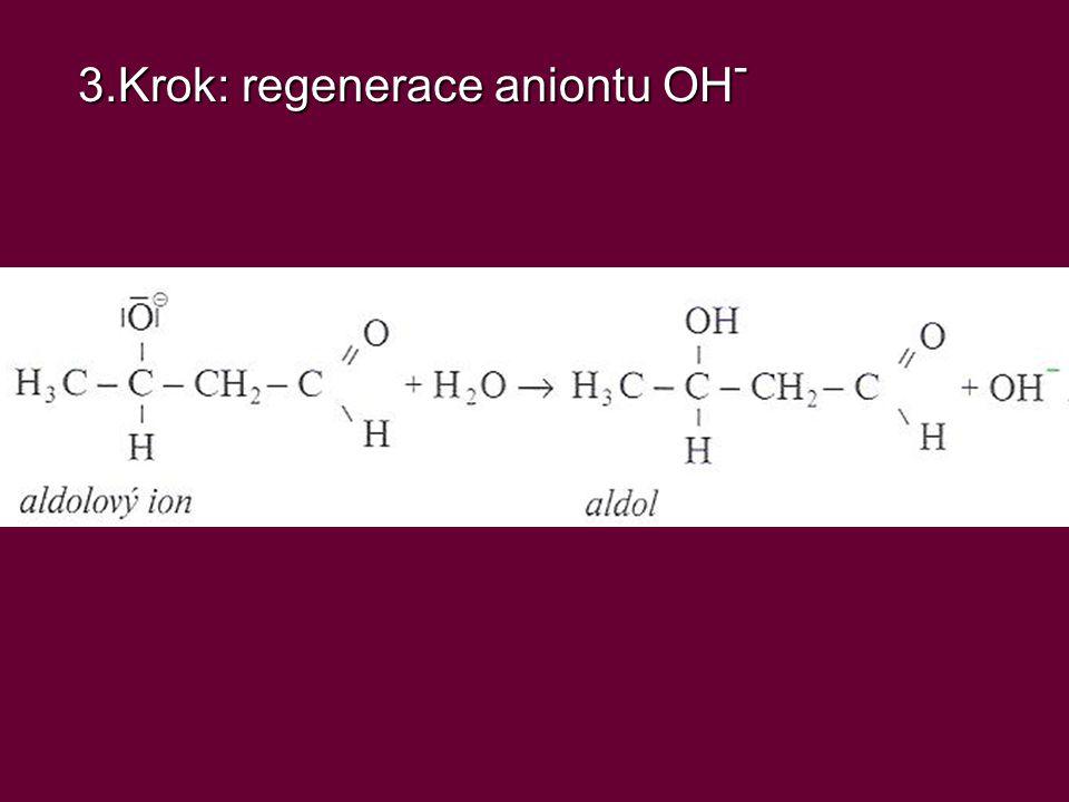 3.Krok: regenerace aniontu OH -