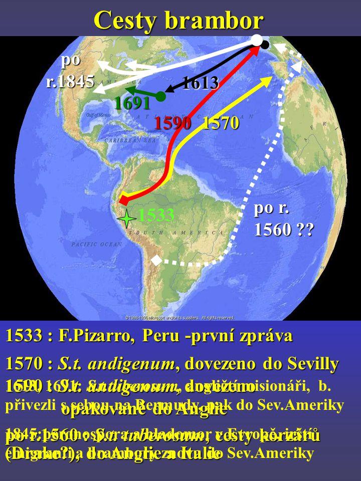 Cesty brambor 15701590 po r.1560 ?.