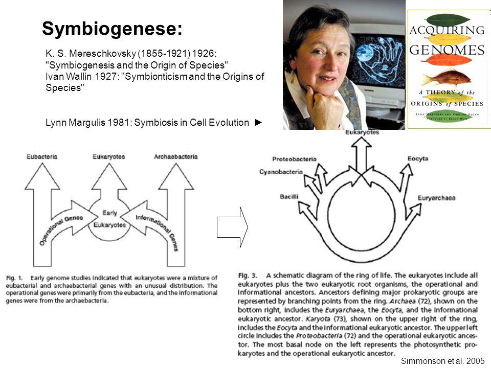 Simmonson et al. 2005 Symbiogenese: K. S.