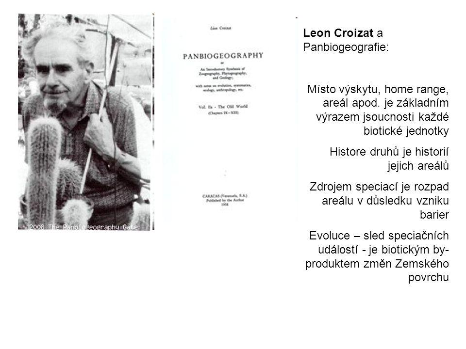 Leon Croizat a Panbiogeografie: Místo výskytu, home range, areál apod.