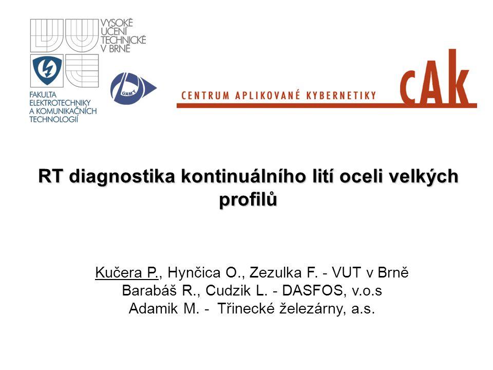 RT diagnostika kontinuálního lití oceli velkých profilů Kučera P., Hynčica O., Zezulka F. - VUT v Brně Barabáš R., Cudzik L. - DASFOS, v.o.s Adamik M.