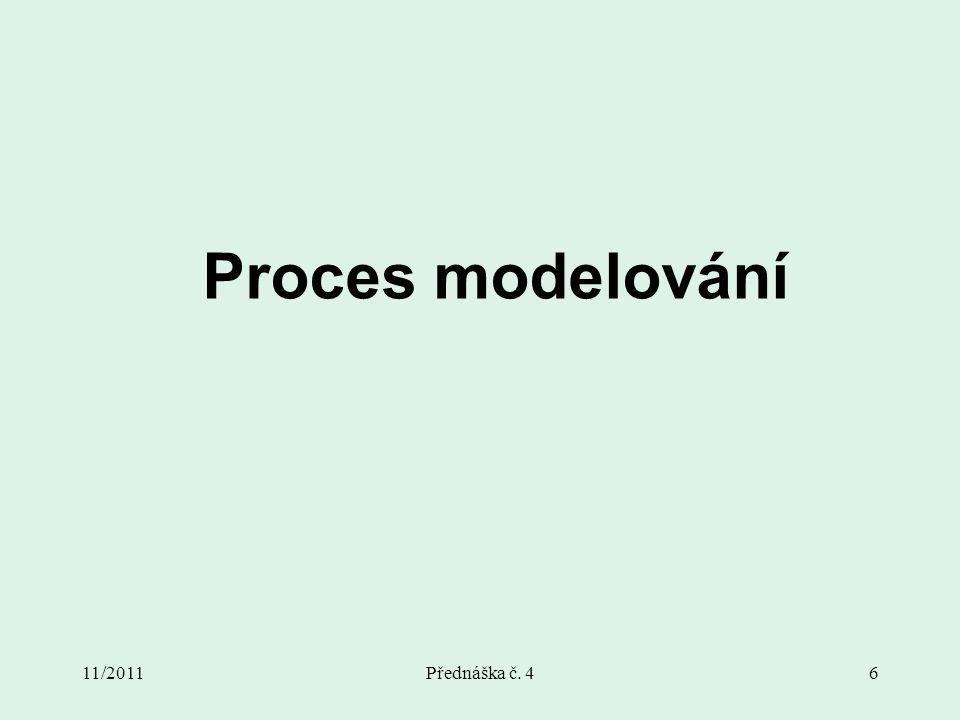 11/2011Přednáška č. 46 Proces modelování