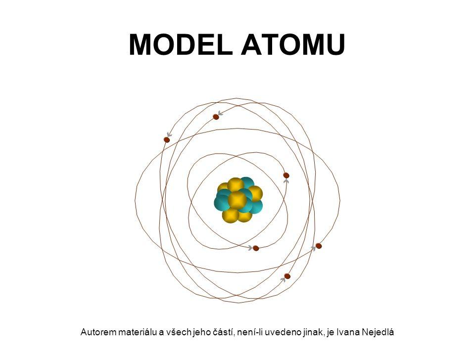 MODEL ATOMU - historie Démokritos (460 – 370 př.n.