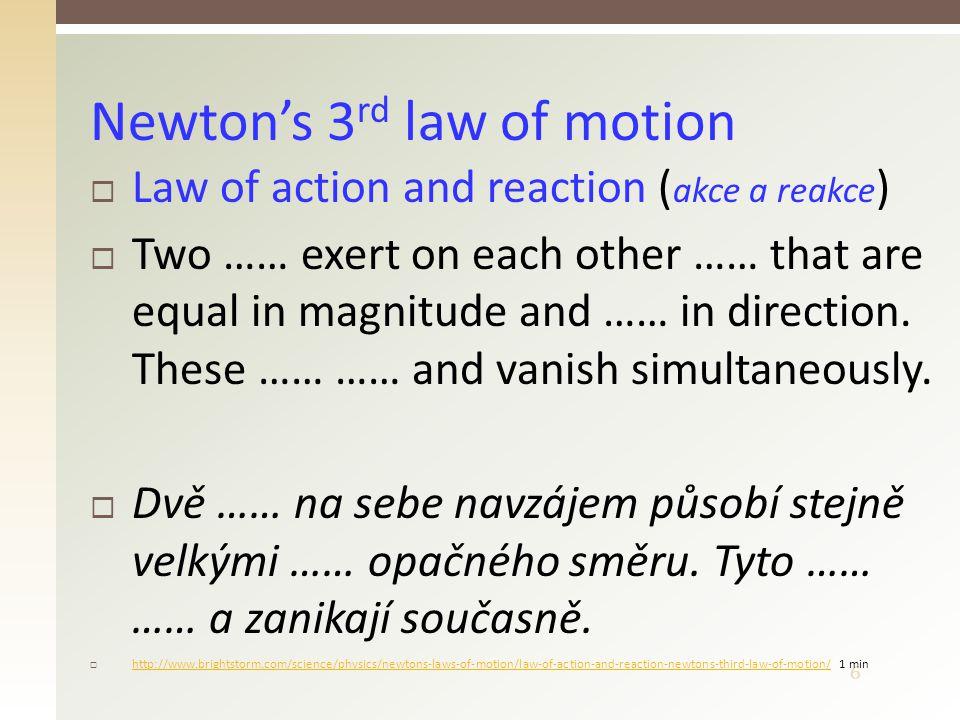 7  ( zákon zachování hybnosti )  The total linear …………… of an ………… system of bodies is …………: p = const.