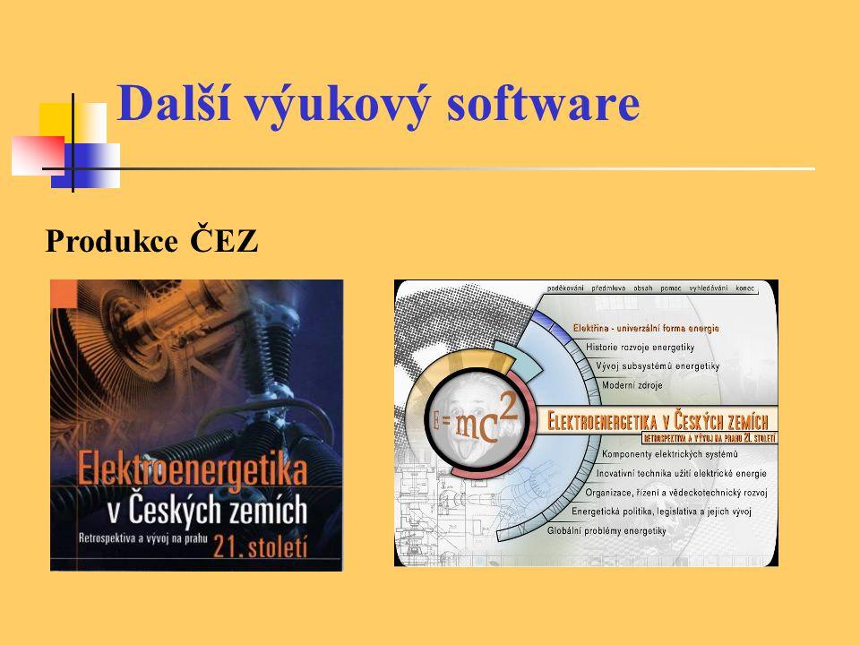 Další výukový software Produkce ČEZ