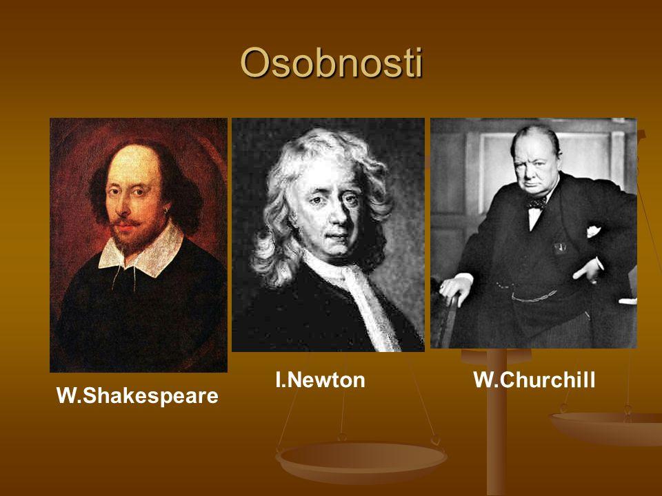 Osobnosti W.Shakespeare I.Newton W.Churchill