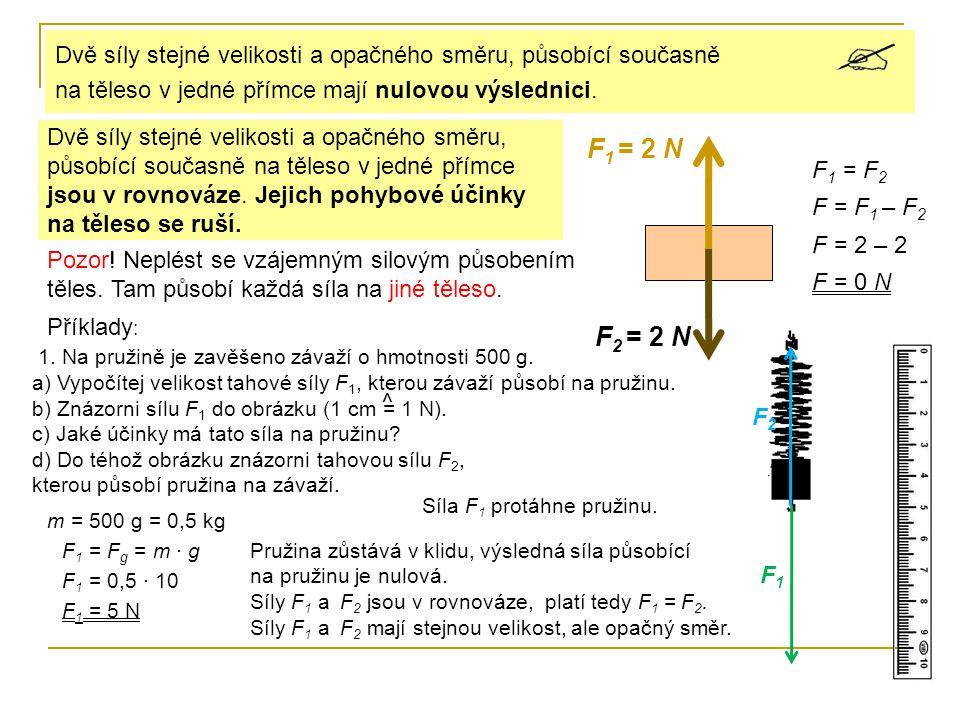2.Na misku sklonných vah se stupnicí v newtonech položíme závaží o hmotnosti m = 200 g.