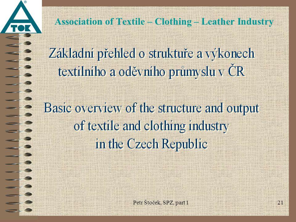 Petr Štoček, SPZ, part 121 Association of Textile – Clothing – Leather Industry